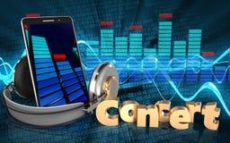 3d spectrum mobiele telefoon Royalty-vrije Stock Fotografie