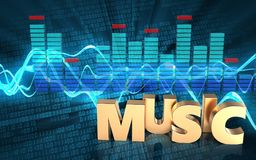 3d spectrum music sign Stock Photo