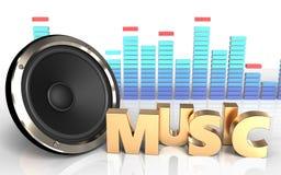 3d spectrum van het muziekteken Royalty-vrije Stock Afbeelding