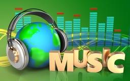 3d spectrum van het muziekteken Stock Afbeeldingen