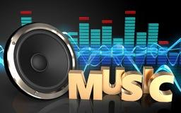3d spectrum van het muziekteken Royalty-vrije Stock Foto's