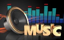 3d spectrum van het muziekteken Stock Foto's