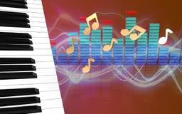 3d spectrum van pianosleutels Stock Afbeelding