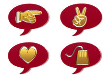 3D speech bubble. S with symbols vector illustration