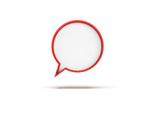 3d speech bubble. Isolated 3d rendering Stock Photography