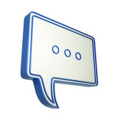 3d speech bubble with three dots Royalty Free Stock Photography