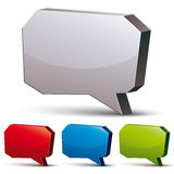 3d speech bubble  on white background, vector background Stock Photo