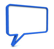 3D Speech Bubble Stock Photo