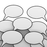 3d Speech bubbles Royalty Free Stock Image