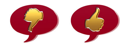 3D Speech bubbles Stock Photo