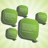 3D Speech Bubbles Vector. Green 3D Speech Bubbles Vector Design stock illustration
