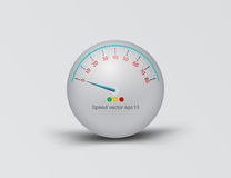 3D speedometer ball scene vector. Design on a gray background Royalty Free Stock Image