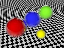 3d sphères - illustration 3D Image libre de droits