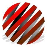 3d sphères rayées, globes Icônes de sphère, logos abstraits de sphère Photo stock