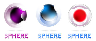 3d sphere abstract company logo Stock Photography