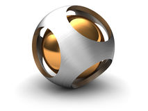 3d sphere. Abstract 3d illustration of sphere shape Royalty Free Stock Photography