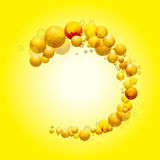 3D sphere border on yellow background Royalty Free Stock Photography