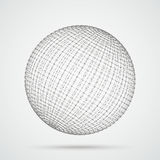 3d Sphere Connected Dots Royalty Free Stock Images