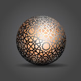 3d Sphere Decorated With Geometric Abstract Shape Ornament Royalty Free Stock Photo