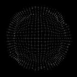 3D Sphere ,Edges and Points. Sphere Illustration. 3D Grid Design in Technology Style. Abstract Globe Grid. Networks. Technology Stock Image
