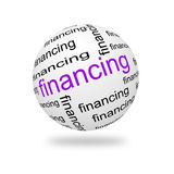 3D Sphere financing. Sphere financing on a white background. 3D illustration Stock Photography