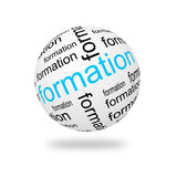 3D Sphere formation Stock Photo
