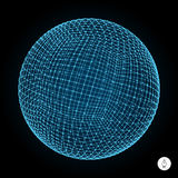 3d sphere. Global digital connections. Technology Royalty Free Stock Image