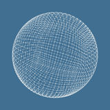 3d sphere. Global digital connections. Technology Stock Photo