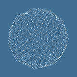 3d sphere. Global digital connections. Technology Royalty Free Stock Photo
