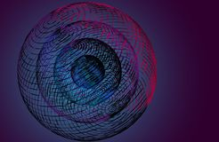 3D sphere from lines connected grid. Vector illustration. 3D sphere from lines connected grid. Vector n illustration Stock Photography