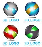 3D sphere logo Stock Images