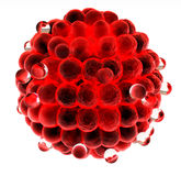 3d sphere made of small red spheres concept Stock Photos
