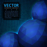 3D sphere object abstract background. Vector graphic design. 3D sphere object abstract background. Vector abstract illustration Royalty Free Stock Photos