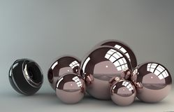 3D Sphere. With an optical lens stock illustration