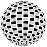 3d sphere orb with textured grayscale surface on white. Abstract Royalty Free Stock Photography