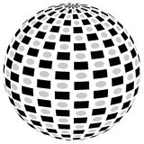 3d sphere orb with textured grayscale surface on white. Abstract Stock Images