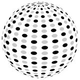 3d sphere orb with textured grayscale surface on white. Abstract Royalty Free Stock Photos