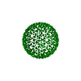 3d Sphere from particles. Isolated on white background.Vector il. Lustration vector illustration