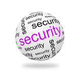3D Sphere security. Sphere security on a white background. 3D illustration Royalty Free Stock Images