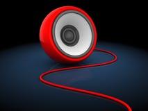 3d sphere speaker. 3d illustration of sudio speaker sphere, over dark background Royalty Free Stock Photos