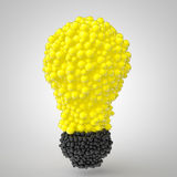 3d spheres arranged in bulb form Royalty Free Stock Photos
