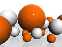 3D  spheres. Illustration of abstract 3D  spheres background Royalty Free Stock Photo