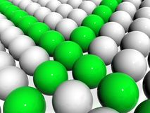 3D  spheres. Illustration of abstract 3D  spheres background Royalty Free Stock Photos