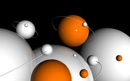 3D  spheres. Illustration of abstract 3D  spheres background Royalty Free Stock Images
