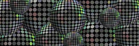 3d spheres metal holographic background. Brutal trend web design. royalty free illustration