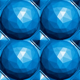 3d spheres seamless pattern. Royalty Free Stock Photography