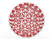 3d spherical scientific geometric structure Stock Photo