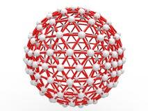 3d spherical scientific geometric structure Stock Photo