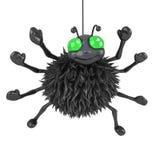 3d Spider hanging around Stock Photo