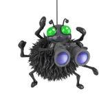 3d Spider has binoculars. 3d render of a spider holding a pair of binoculars Stock Photo